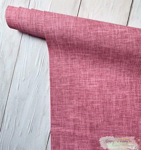 кожзам-лен-розовый