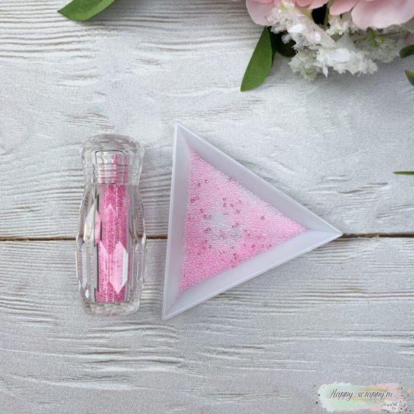 Бульонки в баночке розовый с кристалами