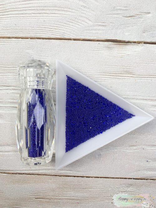 Бульонки в баночке синие с кристалами