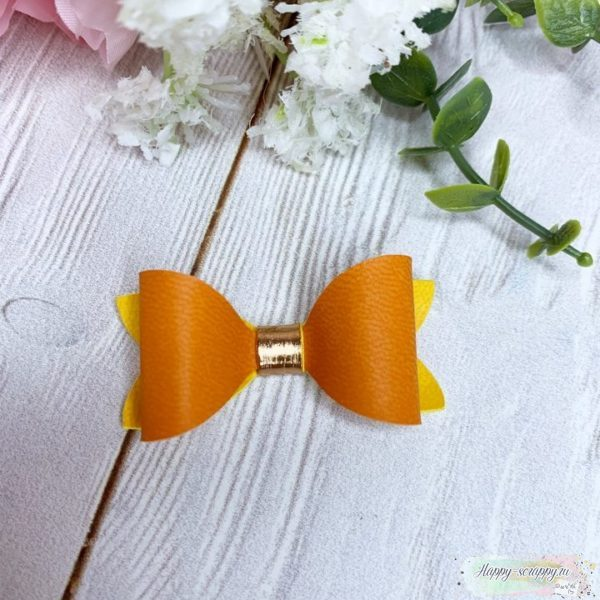 бантик оранжевый