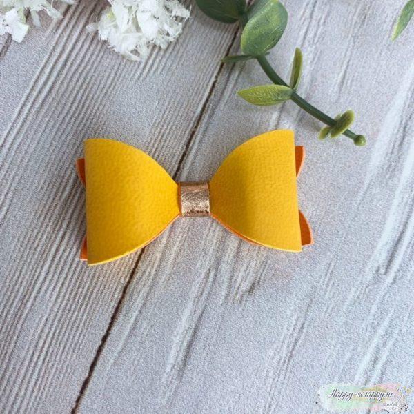 бантик желто-оранжевый