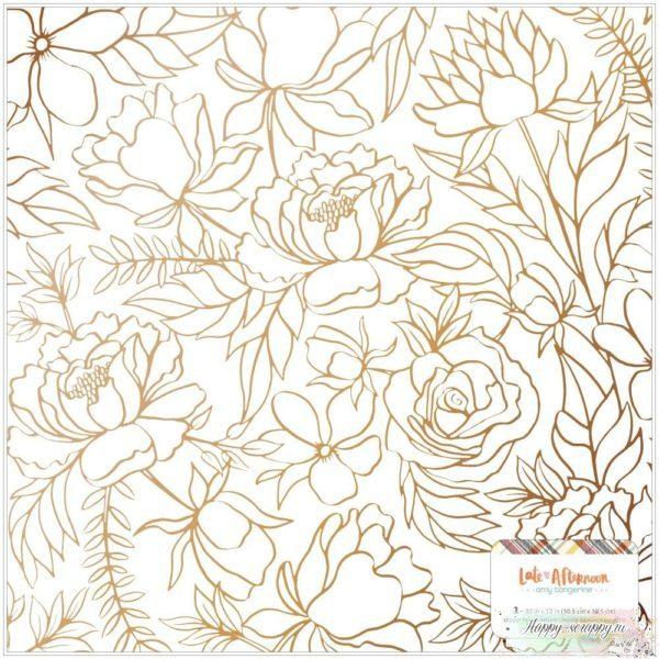 Веллум (калька) Amy Tan Late Afternoon Specialty Paper от American Crafts