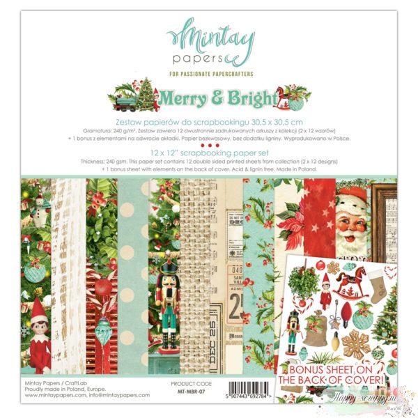 Набор бумаги Merry&Bright от Mintay papers