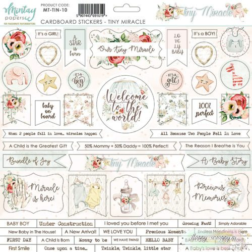 Чипборд Tiny Miracle от Mintay papers