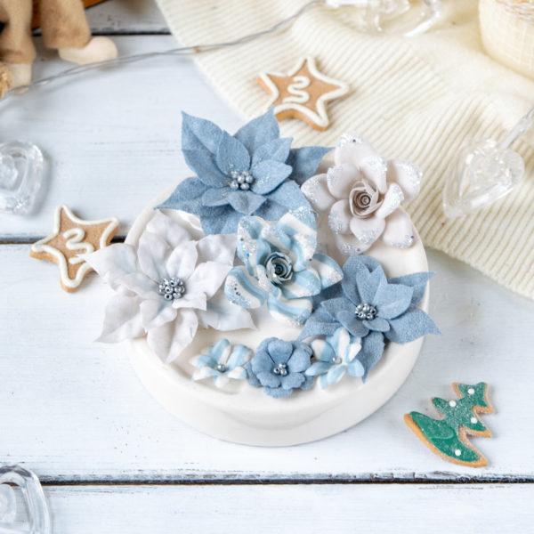 "Набор цветов Pastel flowers — ""Сказочная зима"" голубо"