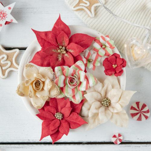 "Набор цветов Pastel flowers — ""Сказочная зима"" красный"