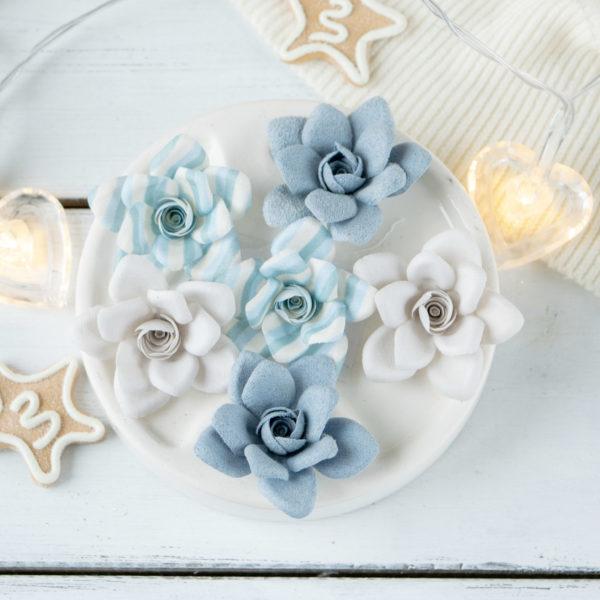 "Набор цветов Pastel flowers — ""Сказочная зима"" голубой"