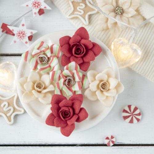 """Набор цветов Pastel flowers — """"Сказочная зима"""" красный розы"""