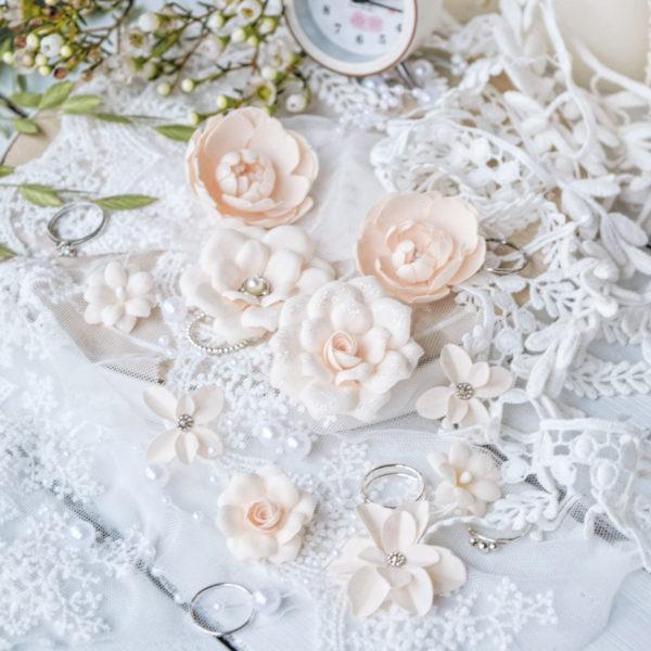 """Набор цветов Pastel flowers —""""Diamond"""" персиковый"""