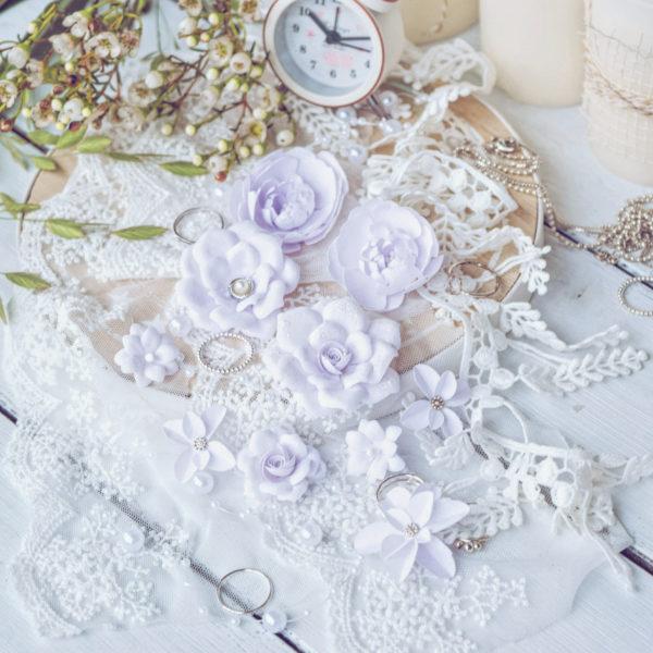 "Набор цветов Pastel flowers —""Diamond"" сиреневый"