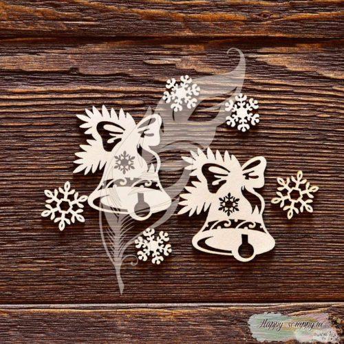 Чипборд из картона Новогодние колокольчики