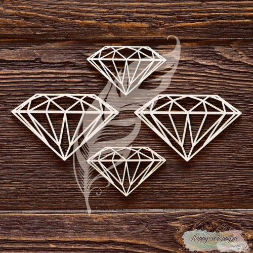 Чипборд из картона Алмазы