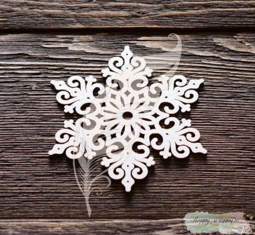 Чипборд из картона Большая снежинка