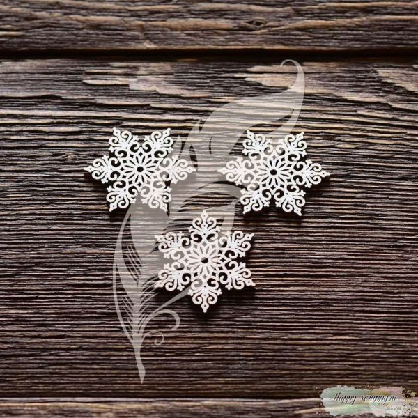 Чипборд из картона Снежинки