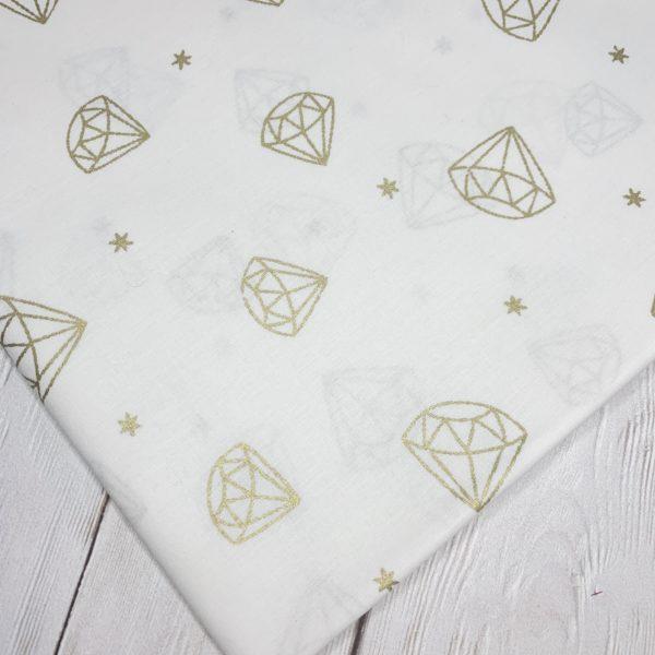 Ткань Алмазы со звездочками