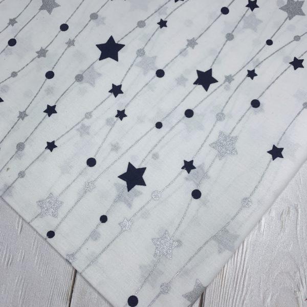 Ткань гирлянда из звезд