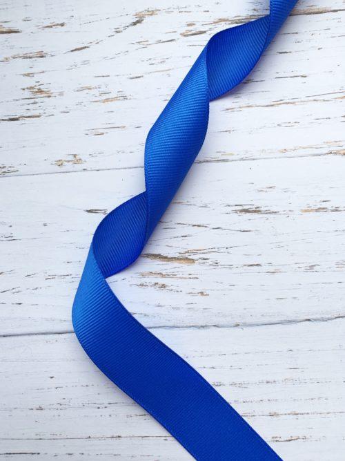 Лента репсовая - синяя (1 м)