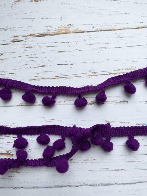 Лента помпон фиолетовый (1 ярд)