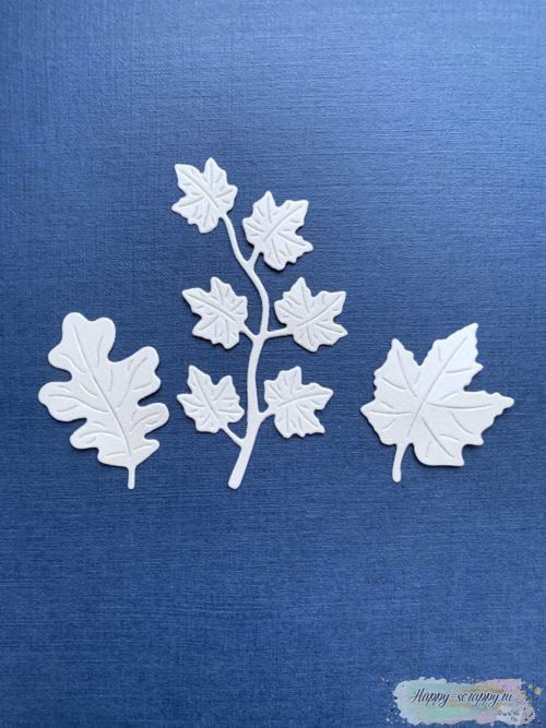 Вырубка набор осенние листья