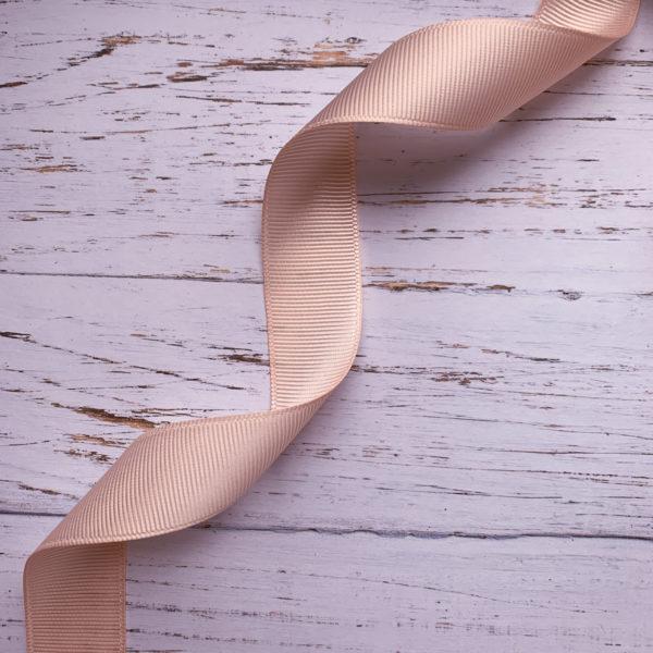 Лента репсовая - персиковая (1 м)