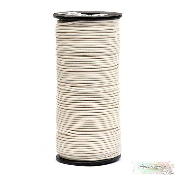 Резинка шляпная (круглая) молочная 2 мм - 1 м