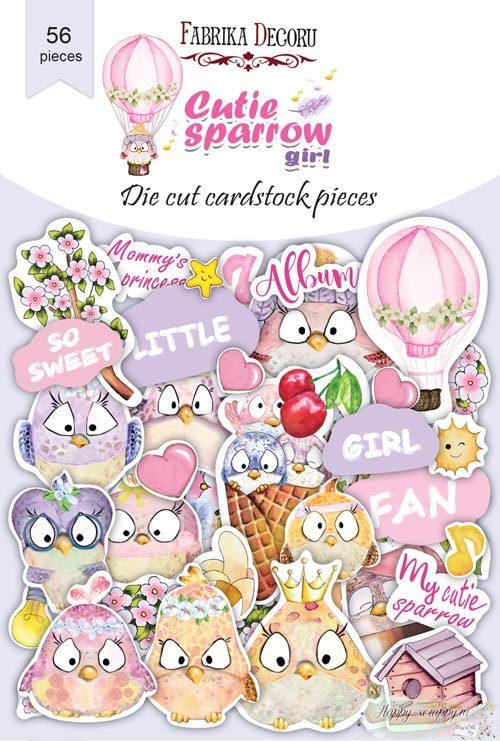 Набор высечек коллекция Cutie sparrow girl