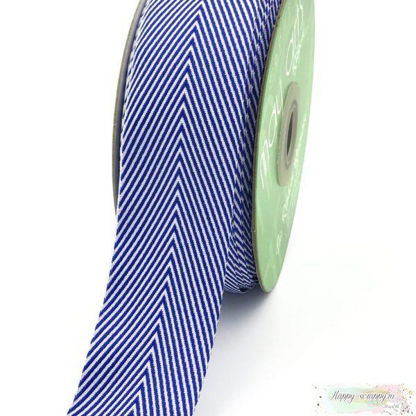 Лента шеврон широкая - синяя