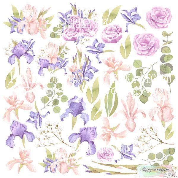 Лист с картинками для вырезания Majestic Iris
