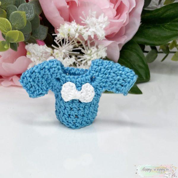 Вязаный свитерок синий
