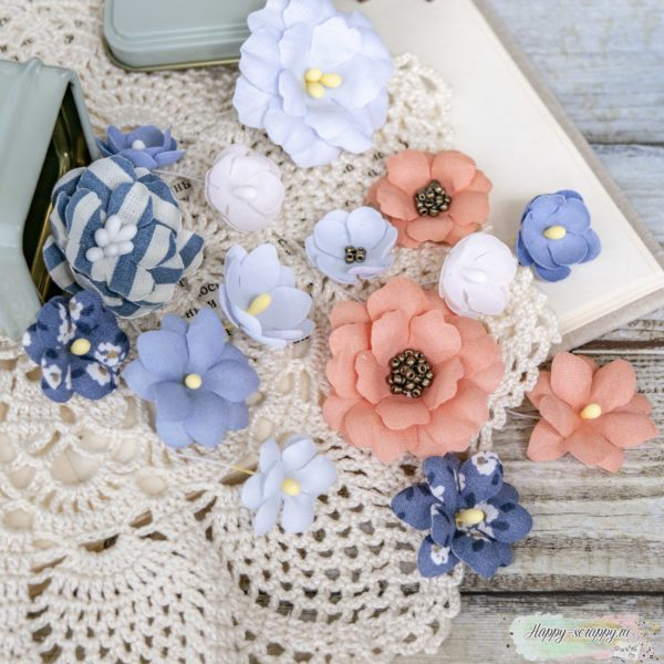 "Набор цветов Pastel flowers — ""Морской"" коралл"