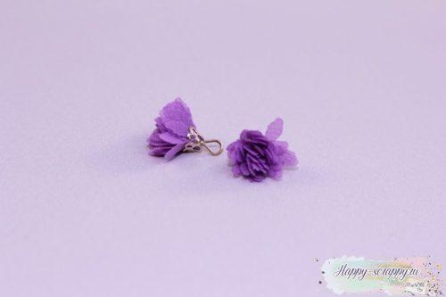 Кисточка шифоновая маленькая фиолетовая (1шт)