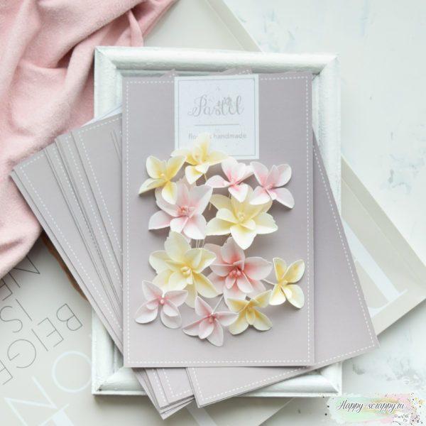 """Набор цветов Pastel flowers — """"Гортензии дуболистные"""" желто-розовый"""