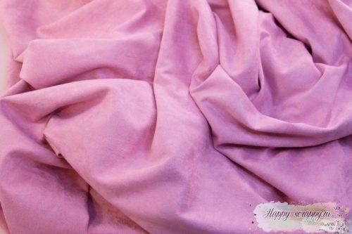 Искусственная замша розовая 35х50 см.