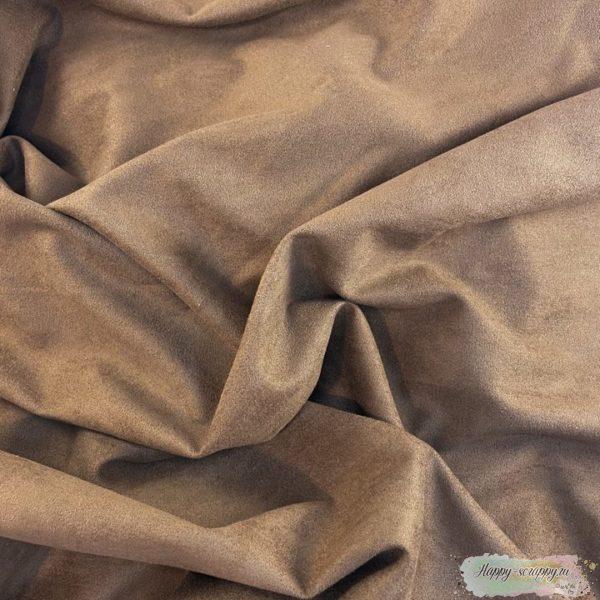 Искусственная замша коричневая 35х50 см.