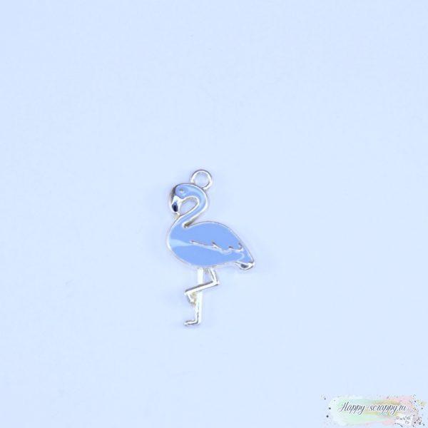 Подвеска фламинго голубой