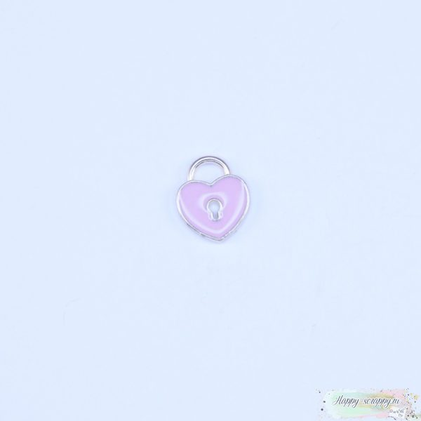 Подвеска сердечко розовое