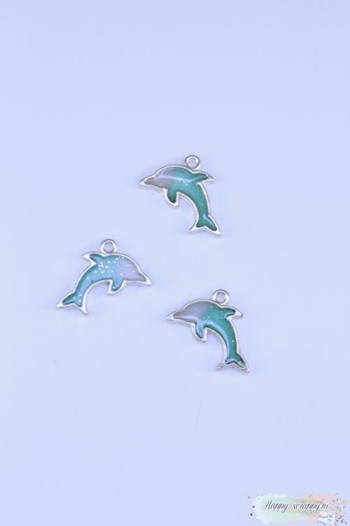 Подвеска дельфин зеленый