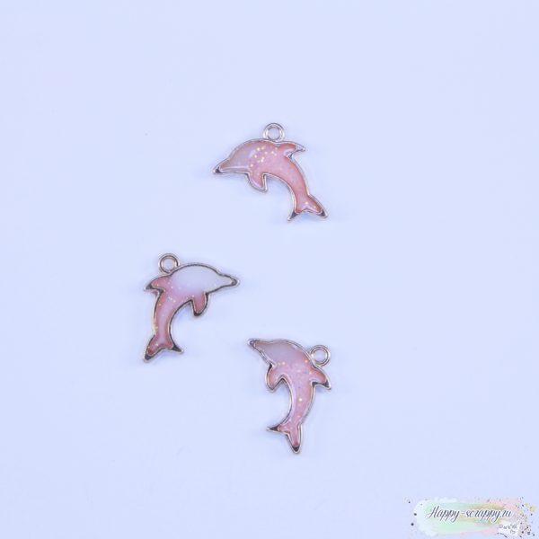 Подвеска дельфин розовый