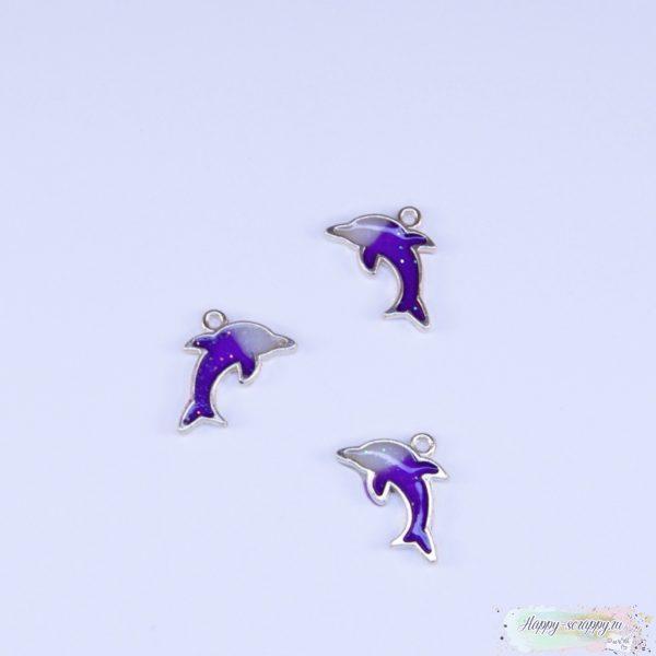 Подвеска дельфин фиолетовый