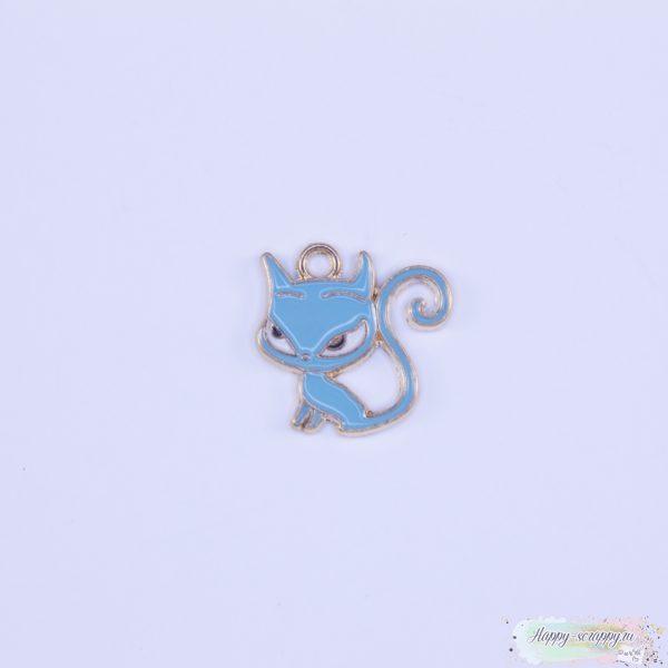 """Подвеска """"Кошка"""" голубая"""