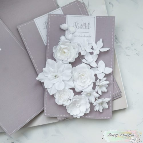 """Набор цветов Pastel flowers — """"Базовый микс"""" белый"""