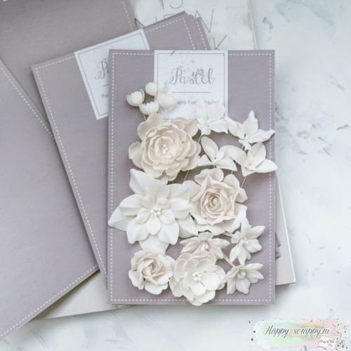 """Набор цветов Pastel flowers — """"Базовый микс"""" бежевый"""