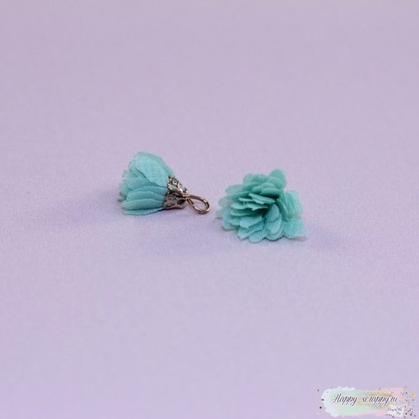 Кисточка шифоновая маленькая мятная (1шт)