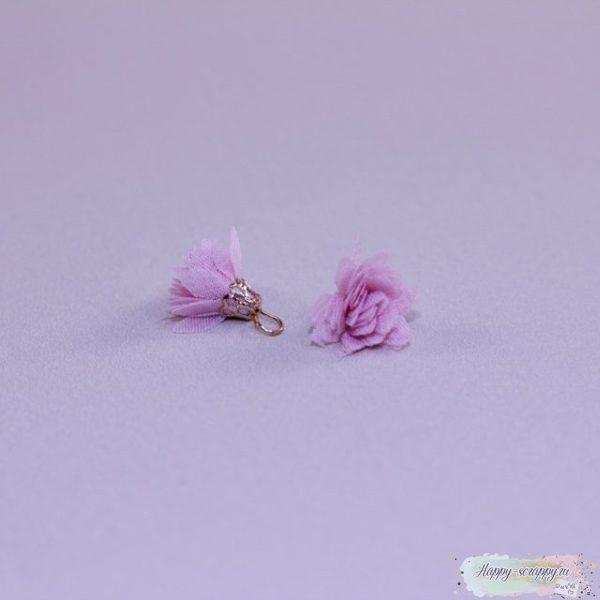 Кисточка шифоновая маленькая розовая (1шт)