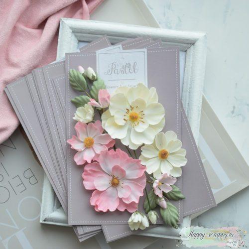 """Набор цветов Pastel flowers — """"Шиповник"""" розовый"""
