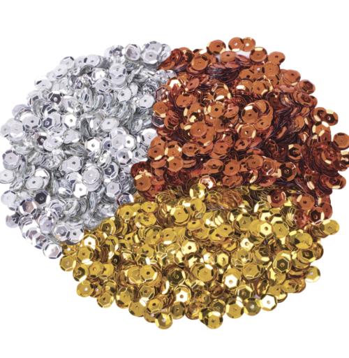 Набор пайеток (золото, сербро, медь)