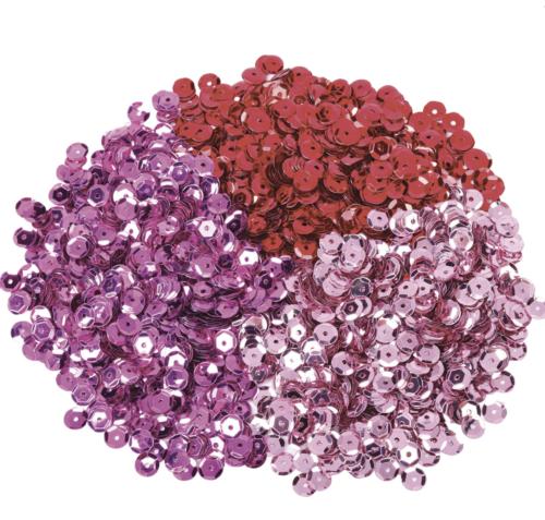 Набор пайеток (красный, малиновый, фиалковый) 6 мм.