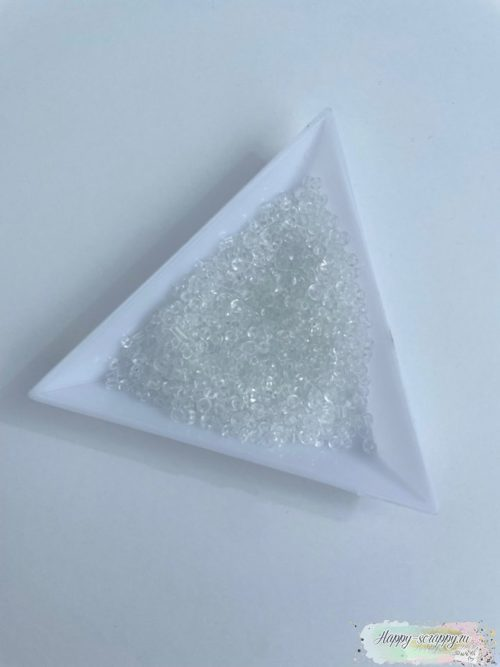 Бисер прозрачный 2 мм