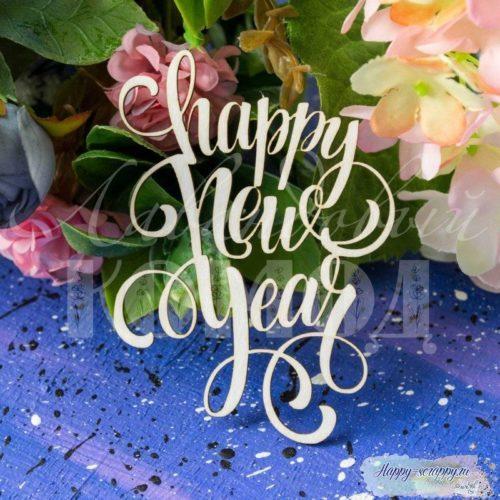"Чипборд из картона надпись ""Happy New Year"""