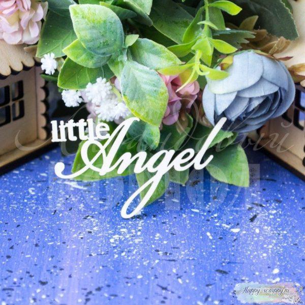 "Чипборд из картона надпись ""Little Angel"""